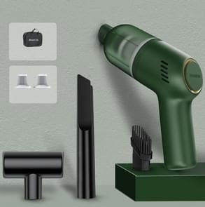 SHANEN 120W 8000Pa Auto stofzuiger Auto draadloos opladen krachtige krachtige Mini Handheld Stofzuiger Groene Filterx2/Opslag Zak