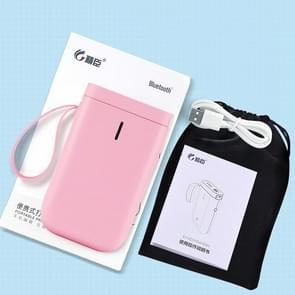 JingChen D11 Thermal Label Printer Bluetooth Handheld Portable Sticker Mobile Phone Printer  Model: D11 Pink Standard