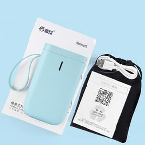 JingChen D11 Thermal Label Printer Bluetooth Handheld Portable Sticker Mobile Phone Printer  Model: D11 Green Standard