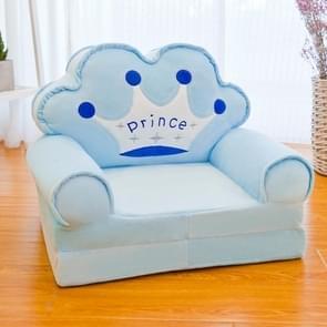 Cartoon vouwen kinderen kinderen sofa pluche speelgoed multifunctionele baby zetel kleuterschool kruk (blauwe kroon)