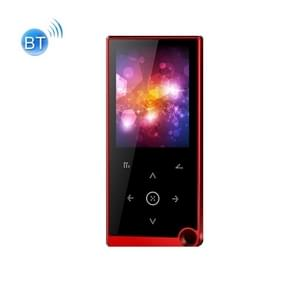 2 4 inch Touch-Button MP4 / MP3 Lossless Music Player  Ondersteuning E-Book / Wekker / Timer Shutdown  Geheugencapaciteit: 8GB Bluetooth-versie(Rood)