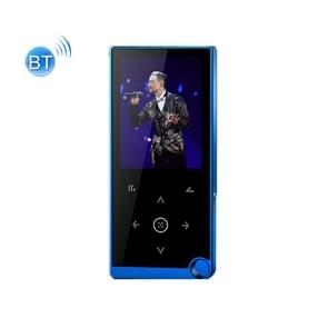 2 4 inch Touch-Button MP4 / MP3 Lossless Music Player  Ondersteuning E-Book / Wekker / Timer Shutdown  Geheugencapaciteit: 8GB Bluetooth-versie(Blauw)