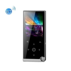 2 4 inch Touch-Button MP4 / MP3 Lossless Music Player  Ondersteuning E-Book / Wekker / Timer Shutdown  geheugencapaciteit: 8GB Bluetooth-versie (Zilvergrijs)