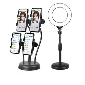 Mobile Phone Live Broadcast Stand Anchor Selfie Beauty Four-Position Desktop Stand  Specificatie: Stand+16cm Vullicht