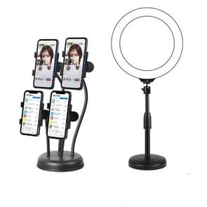 Mobile Phone Live Broadcast Stand Anchor Selfie Beauty Four-Position Desktop Stand  Specificatie: Stand+26cm Vullicht