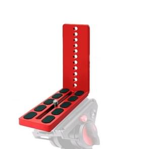 125A Red Vertical Shoot Quick Release L Plate Bracket basishouder