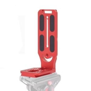 132C Red Vertical Shoot Quick Release L Plate Bracket basishouder