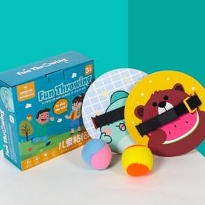 Kleuterschool Kinderen Speelgoed Sticky Target Bat Outdoor Parent-Child Interactie Bal Gooien Spel Twee Vleermuizen
