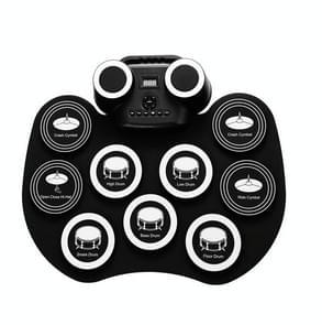 Portable Hand Roll Electronic Drum Flashing Light Bluetooth Drum (Icon Version + Black White)