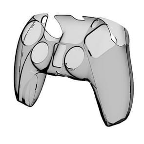 KJH PS5-002 Game Controller Crystal Shell draadloze controller beschermende Shell Cover PC transparante beschermende harde schil voor PS5 (Transparant grijs)