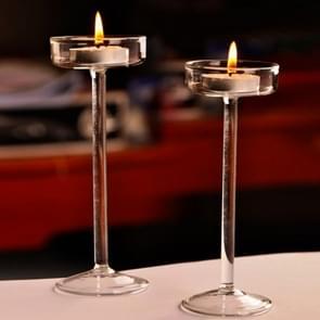 Glass Candlestick Luxury High Candlestick Romantic Dinner Decoration, Size:16cm
