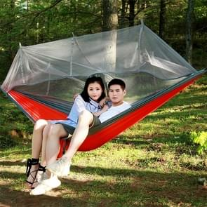 1-2 Person Outdoor Mosquito Net Parachute Hammock Camping Hanging Sleeping Bed Swing Portable  Double  Chair, 260 x 140cm