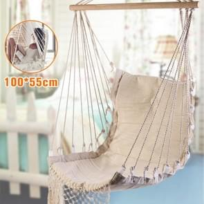 Nordic Style White Outdoor Indoor Garden Dormitory Bedroom For Child Adult Swinging Single Safety Hammock Hanging Chair