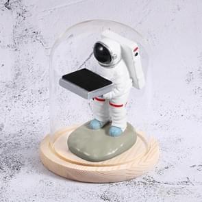 Watch Shelf Support Decoratieve Ornaments Watch Storage Box Display Stand  Item No.: Kleine Astronaut + Wood Color Cover