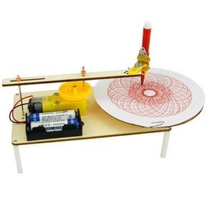 Wetenschappelijke kleine productie DIY Elektrische plotter basisschool studenten hand gemaakte creatieve uitvinding van kinderen technologie materialen (als show)