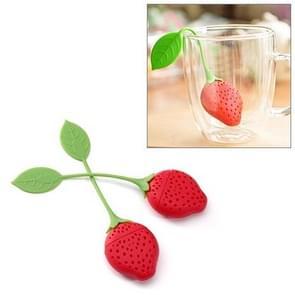 2PCS Strawberry Shape Silicone Kitchen Tea Strainer Tea Infuser Tea Bag(random)