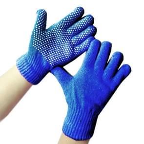 10 Pairs plastic korrel non-slip Full Finger handschoenen arbeid handschoenen voor kinderen  grootte: 9-12 jaar oud (blauw)