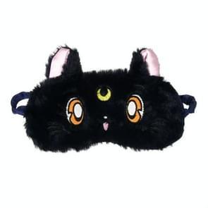 2 PCS Portable Lady Travel Eye Mask Cute 3D Natural Sleep Shading Soft Eye Mask(Black)