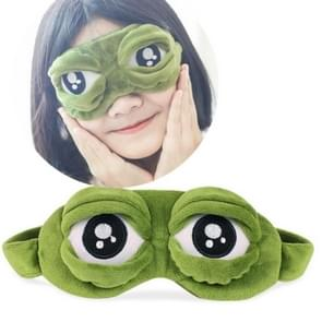 Cute Eyes Plush3D Frog Shade Cover Sleeping Rest Travel Eye Mask with Ice Bag