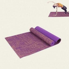 Pvc-linnen yogamat met hoge dichtheid  maat:183 x 61 x 0 6 cm(paars)