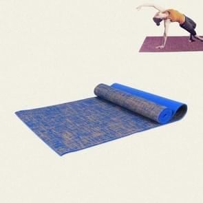 Pvc Linnen yogamat met hoge dichtheid  grootte:183 x 61 x 0 6 cm(Blauw)