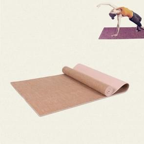 Pvc Linnen yogamat met hoge dichtheid  grootte:183 x 61 x 0 6 cm (kaki)