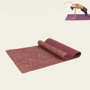 Pvc Linnen yogamat met hoge dichtheid  grootte:183 x 61 x 0 6 cm (Rode wijn)
