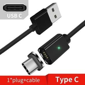 2 stuks ESSAGER Smartphone snel opladen en Data transmissie magnetische kabel  kleur: zwart Type C Cable(2m)