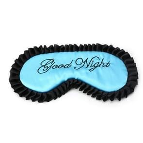 Comfortabele Imitatie Silk Satijn gepersonaliseerde Travel Sleep Mask Eye Cover (Blauw)
