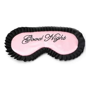Comfortable Imitation Silk Satin Personalized Travel Sleep Mask Eye Cover(Pink)