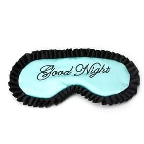 Comfortabele Imitatie Silk Satijn gepersonaliseerde Travel Sleep Mask Eye Cover (Groen)