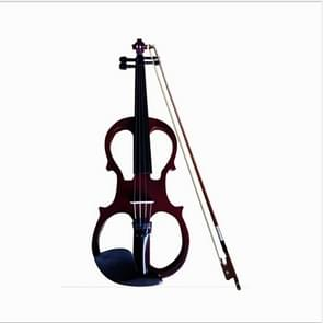 YS030 4 / 4 Wooden Manual Electronic Violin for Beginners, with Bag(Wine Red)