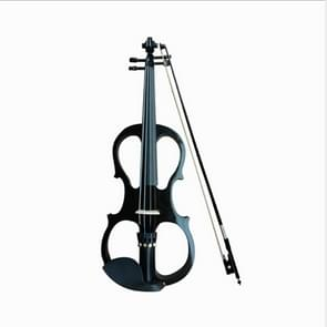 YS030 4 / 4 Wooden Manual Electronic Violin for Beginners, with Bag(Black)