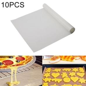 10 PCS Thick Baking Tray High Temperature Cake Oven Tarpaulin, Size:60x40cm(White)
