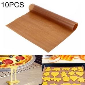 10 PCS Thick Baking Tray High Temperature Cake Oven Tarpaulin, Size:60x40cm(Coffee)