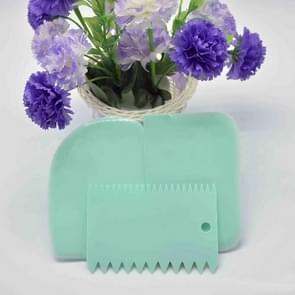 6PCS/2Set Colorful Multifunctional Irregular Teeth Edge DIY Cream Scraper Set Cake Mold Tools(Sky blue)