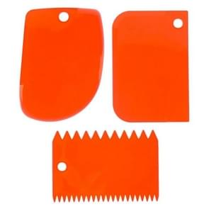 6PCS/2Set Colorful Multifunctional Irregular Teeth Edge DIY Cream Scraper Set Cake Mold Tools(Orange)