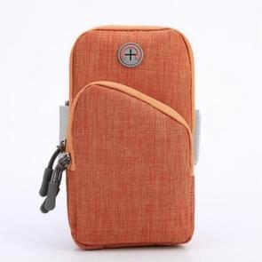 Oxford Cloth Outdoor Sports Arm Bag OpslagTAs Fitness Mobiele Telefoon Tas voor 5 5-6 5 inch scherm telefoon (Oranje)