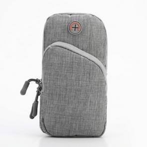 Oxford Cloth Outdoor Sports Arm Bag OpslagT As Fitness Mobiele Telefoon Tas voor 5 5-6 5 inch scherm telefoon (Grijs)