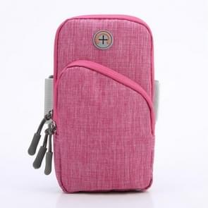 Oxford Cloth Outdoor Sports Arm Bag OpslagTAs Fitness Mobiele Telefoon Tas voor 5 5-6 5 inch scherm telefoon (Rose Red)