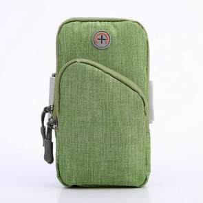 Oxford Cloth Outdoor Sports Arm Bag Storage Bag Fitness Mobiele Telefoon Tas voor 5 5-6 5 inch scherm telefoon (Groen)