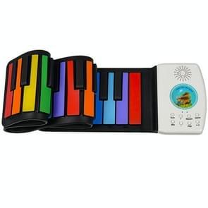 HUA008-49 49-toets met de hand gerolde opvouwbare pianokinderen kleur piano (kleur Engels)