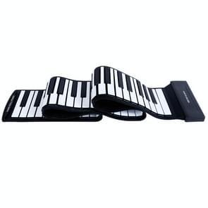 MIDI88 88-toets met de hand gerolde opvouwbare piano professionele MIDI soft keyboard gesimuleerde praktijk draagbare elektronische piano (zwart Engels)