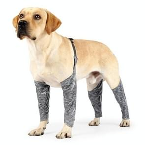 Hond Outdoor Vierbenige broek Pet Waterproof & Dirt-proof Sling Leg Cover  Maat: XS(Grijs)