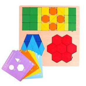 Kinderen Vroege Onderwijs Fun Puzzel Variëteit Geometrische vorm kleur cognitieve puzzel