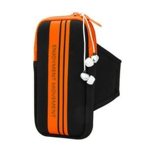 Universal Sports Phone Arm Bag polstas voor 5-5 8 inch scherm telefoon (Oranje)