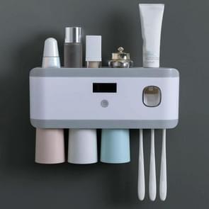 Ultraviolet sterilisatie Slimme tandenborstel houder sterilisator  kleur: Color Cup drie-poort