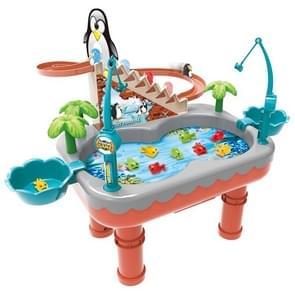 Penguin Stair Klimmen Kinderen Elektrische Magnetische Vissen Speelgoed Multifunctioneel Spel Set (Oranje )