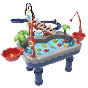 Penguin Stair Klimmen Kinderen Elektrische Magnetische Vissen Speelgoed Multifunctioneel Spel Set (Blauw )