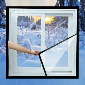 Raam winddichte warme film indoor lucht lekkage geluidsdichte dubbele laag isolatie  specificatie: 1.2x0.8M